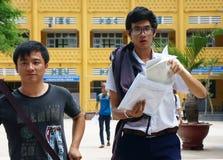 Étudiant asiatique de lycée Photos libres de droits