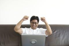 Étudiant asiatique heureux Photographie stock libre de droits