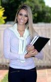 Étudiant assez blond Image stock