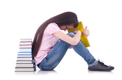 Étudiant avec des livres Photo stock