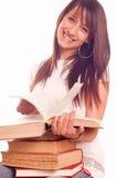 Étudiant avec des livres photos libres de droits