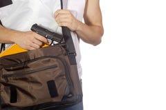 Étudiant avec l'arme à feu photos libres de droits