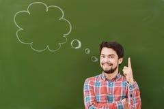 Étudiant avec la bulle de pensée Photos libres de droits
