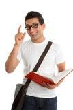 Étudiant avec la question ou la réponse Photo stock