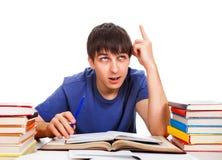 Étudiant avec le doigt vers le haut Photos libres de droits