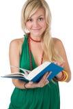 Étudiant avec le livre Images stock
