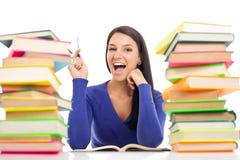 Étudiant ayant l'idée Image libre de droits