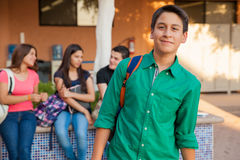 Étudiant bel de lycée Images libres de droits
