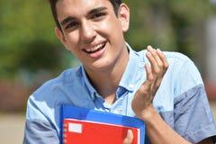 Étudiant bel heureux Teen photo stock