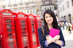 Étudiant chinois à Londres photographie stock libre de droits