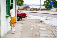 Étudiant d'école, La Havane, Cuba Image libre de droits