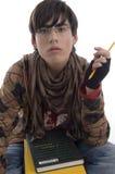 étudiant de crayon de livres Photo libre de droits