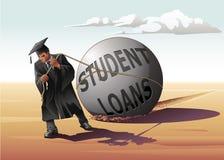 Étudiant de déplacement Loans d'homme illustration stock