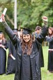 Étudiant de diplômé Excited Photographie stock libre de droits
