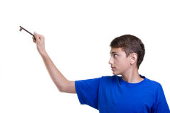 Étudiant de garçon image libre de droits