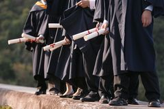 Étudiant de Gratulation Photo stock