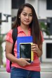 Étudiant de minorité impassible With Notebooks images libres de droits