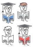Étudiant de troisième cycle With Diploma illustration stock