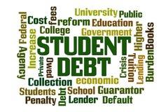 Étudiant Debt Photos libres de droits
