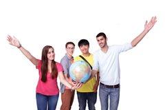 Étudiant en échange heureux Image stock