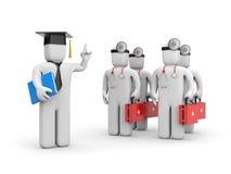 Étudiant en médecine et conférencier ou academic illustration de vecteur