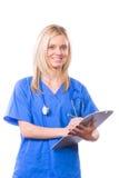 Étudiant en médecine féminin photo stock