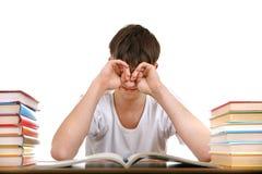 Étudiant fatigué images stock