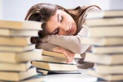 Étudiant fatigué images libres de droits