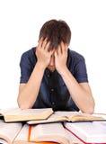 Étudiant fatigué photographie stock libre de droits