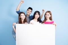 Étudiant heureux de groupe photo libre de droits