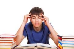 Étudiant With livres photos libres de droits