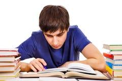 Étudiant With livres photo stock
