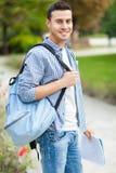 Étudiant mâle de sourire Images libres de droits
