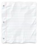 étudiant perforé par papier rayé par trou trois écrivant Image stock