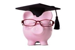 Étudiant Piggy Bank Photos libres de droits