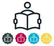Étudiant Reading Book Icon illustration stock