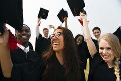 Étudiant School College Concept d'accomplissement d'obtention du diplôme images libres de droits