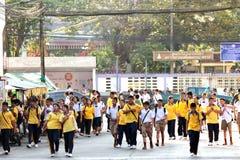 Étudiant thaïlandais dans la rue Image stock