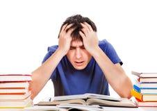 Étudiant triste et préoccupé Image libre de droits