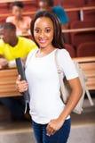 Étudiant universitaire africain images stock