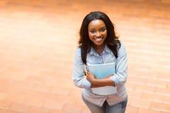Étudiant universitaire africain photographie stock