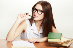 Étudiant universitaire amical Photo libre de droits