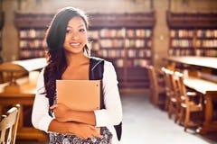 Étudiant universitaire asiatique Images libres de droits