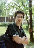 Étudiant universitaire bel. Image stock