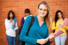 Étudiant universitaire caucasien Photos stock