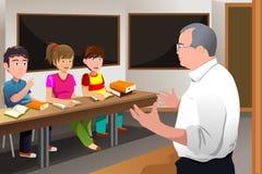 Étudiant universitaire de enseignement de professeur illustration stock