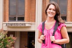 Étudiant universitaire féminin Image libre de droits