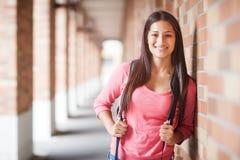 Étudiant universitaire hispanique Photos stock