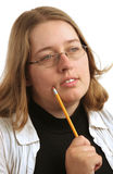 Étudiant universitaire pensif photo libre de droits
