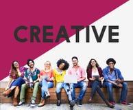 Étudiant universitaire Start vers le haut de concept créatif d'idées Photographie stock libre de droits